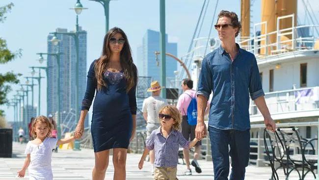 Matthew McConaughey and family